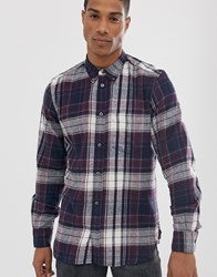 French Connection Multi Flannel Check Shirt Red