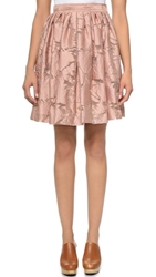 Jill Stuart Fil Coupe Candice Skirt Blush
