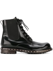 Dolce And Gabbana Classic Combat Boots Black