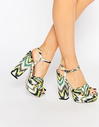 Asos Hot Springs Platform Sandals Print Multi