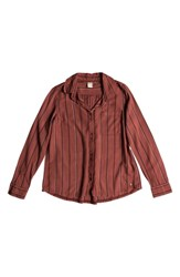 Roxy Concrete Streets Stripe Shirt Withered Rose