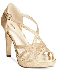 Styleandco. Style And Co. Selinaa Evening Pumps Only At Macy's Women's Shoes Gold Glitter
