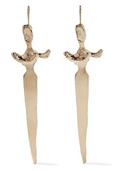 Valentino Gold Tone Earrings One Size