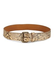 Ralph Lauren Snakeskin Leather Belt Tan