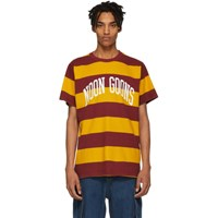 Noon Goons Yellow And Burgundy Big Stripe T Shirt