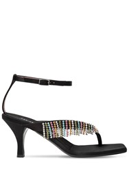 Les Petits Joueurs 70Mm Ardith Satin And Crystals Sandals Black