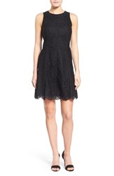 Women's Kensie Lace Fit And Flare Dress Black