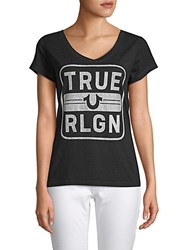 True Religion Embellished Cotton Tee Black