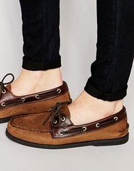 Sperry Topsider Suede Boat Shoes Brown