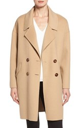 Diane Von Furstenberg Women's Double Face Double Breasted Walking Coat Camel Camel
