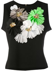 Amuse Floral Embellishment Tank Women Cotton Polyester L Black