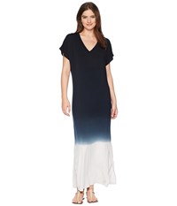 Hard Tail Every Day Tee Maxi Dress Ombre Wash 3 Black