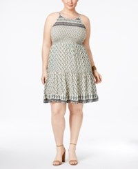American Rag Trendy Plus Size Dress Only At Macy's Egret Combo