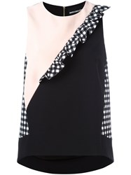 Marco Bologna Gingham Trim Top Black