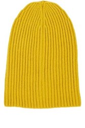 Barneys New York Women's Cashmere Beanie Yellow
