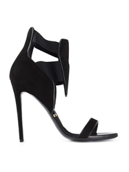 Gianmarco Lorenzi Front Panel Sandals Black