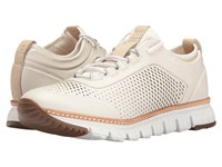 Cole Haan Zerogrand Perforated Sneakers White Leather Ivory Natural Gum Men's Lace Up Casual Shoes