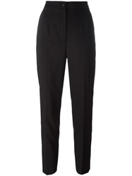 Dolce And Gabbana Piped Cropped Trousers Black