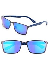 Women's Converse 59Mm Sunglasses Matte Blue Mirror