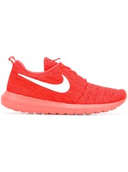 Nike Flyknit 'Roshe Run' Sneakers Yellow And Orange