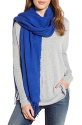 Trouve Solid Scarf Blue Mazarine