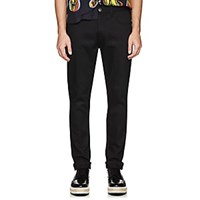 Prada Side Striped Skinny Jeans Black