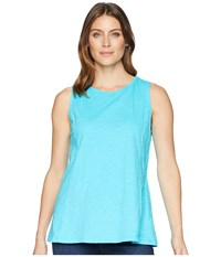 Fresh Produce Chloe Tank Luna Turquoise Sleeveless Blue