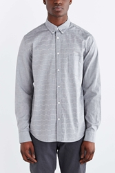 Barney Cools Ripple Long Sleeve Button Down Shirt Grey