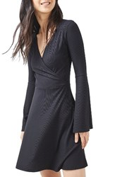Topshop Women's Trumpet Sleeve Skater Dress