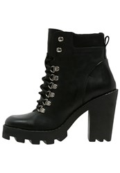 Pieces Psuzza Platform Boots Black