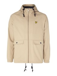 Lyle And Scott Men's Cotton Zip Through Jacket Stone