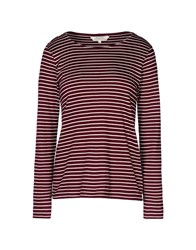 People Tree Topwear T Shirts Women Maroon
