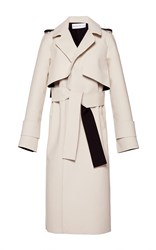Wanda Nylon Holly Long Wrap Coat White
