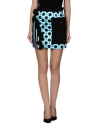 Emanuel Ungaro Mini Skirts Light Green