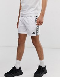 Kappa Authentic Cole Shorts With Logo Taping In White
