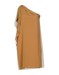 Space Style Concept Short Dresses Ocher