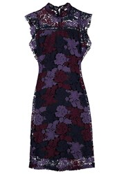 Glamorous Summer Dress Navy Purple Dark Blue