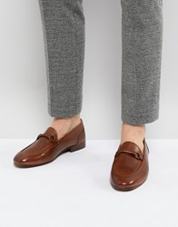 Hudson H By Renzo Leather Loafers In Tan