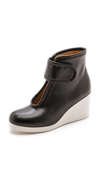 Maison Martin Margiela Velcro Wedge Booties Black