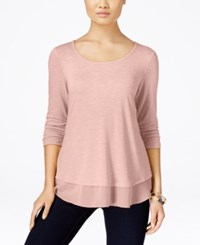 Styleandco. Style Co. Petite Chiffon Hem Top Only At Macy's Crushed Petal