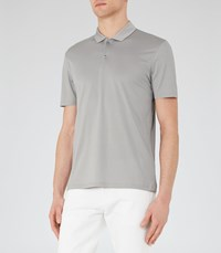 Reiss Seaton Mens Short Sleeved Polo Shirt In Grey