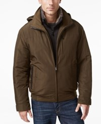 Weatherproof Vintage Men's Oxford Hooded Bomber Army