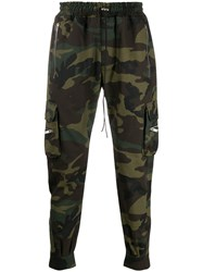 Represent Camouflage Print Trousers Green