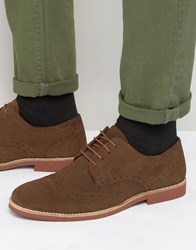 Red Tape Brogues In Brown Suede Brown