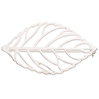 John Lewis Open Work Leaf Brooch Silver