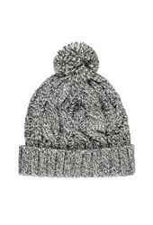 Forever 21 Cable Knit Pom Beanie Cream Grey