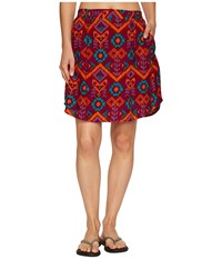 Kavu South Beach Skirt Jewel Ikat Women's Skirt Red