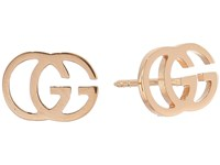 Gucci Running G Stud Earrings Silver