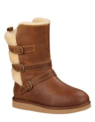Ugg Becket Leather Mid Calf Boots Brown