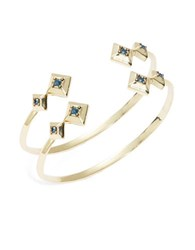 House Of Harlow Lyra Geometric Bangle Bracelets Blue